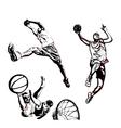 basketball trio vector image