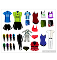 Set of Sport Waers on White Background vector image vector image