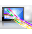 tablet background vector image vector image