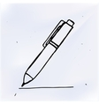 pen with line hand drawn doodle object vector image