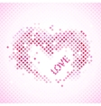 Abstract romantic background with heart and love vector image