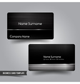 Business Card template set 55 Dark metal and steel vector image