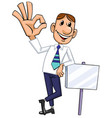 businessman with ok gesture vector image
