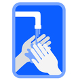 Clean hands symbol vector image
