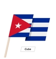 Cuba Ribbon Waving Flag Isolated on White vector image