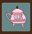 sugar design vector image