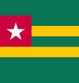 togo national flag and ensign vector image
