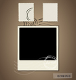 Blank grunge post stamps and photo frame vector image vector image