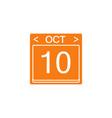 calendar flat icon modern sign for mobile vector image