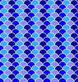 Seamless blue ocean wave pattern background vector image