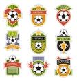 Set of sports soccer football badges vector image vector image