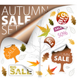 autumn sale set vector image