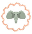 Elephant head cartoon  Grey vector image