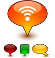 Rss speech comic icons vector image