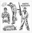 Bandits and hooligans - criminal nightlife vector image