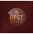 The best glass label vector image