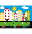 Color city background vector image