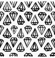 Diamond hand drawn seamless background vector image