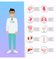 doctor in in medical uniform human internal vector image