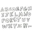 marker alphabet vector image