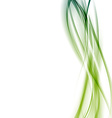 Modern green abstract line background template vector image