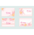 pink business floral card set vector image