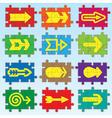 puzzle arrows set vector image