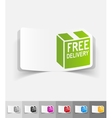 realistic design element free delivery vector image
