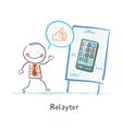 Relayter praises mobile phone vector image