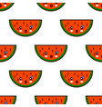 seamless pattern with watermelon cute fruit kawaii vector image