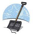 snow shovel vector image