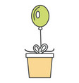 surprise party gift vector image