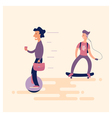 Unicycle Scooters vector image