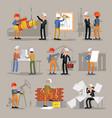 industrial professional engineers set vector image