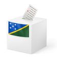 Ballot box with voting paper Solomon Islands vector image