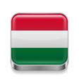 Metal icon of Hungary vector image