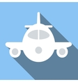 Plane colored flat icon vector image