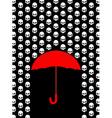 Rain of skulls Umbrella protects from head of vector image
