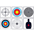 Weapon targets vector image