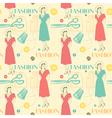 Vintage Fashion Pattern Background vector image vector image