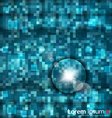 Abstract blue mosaic vector image