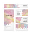 business cards design abstract watercolor vector image