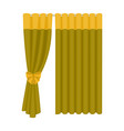 curtains single icon in cartoon stylecurtains vector image