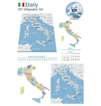 Italy maps with markers vector image