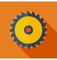 Modern flat design concept icon Saw circula vector image