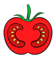 red tomato icon cartoon vector image