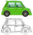 sketching draft for small car vector image
