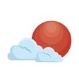 rising Sun japan icon vector image
