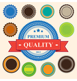 Set of blank retro vintage badges and labels eps10 vector image vector image