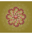 Brown ornament on beige background vector image vector image